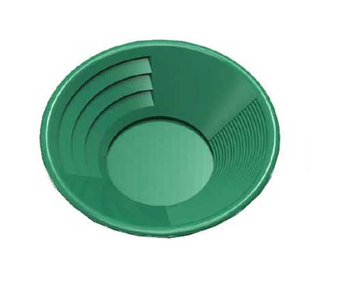 "Deep Riffle Green 10"" Gold Pan"