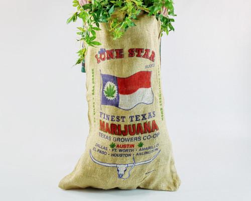 Lone Star Texas Novelty Burlap Weed Bag