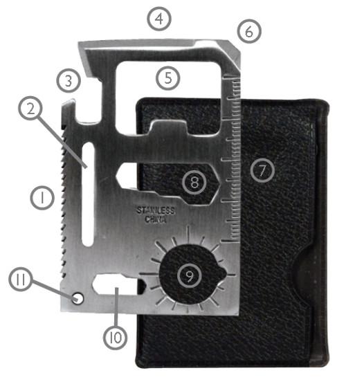 Survival Pocket Knife Credit Card