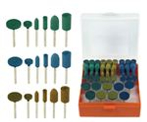 54pc Rotary Rubberized Abrasive Set