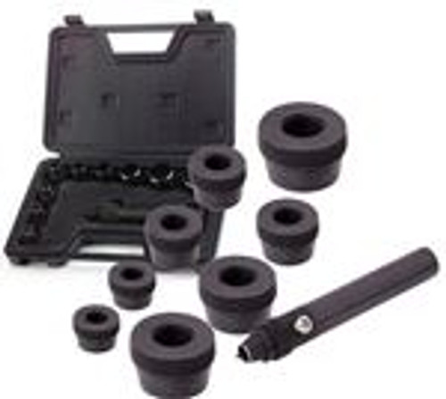 10 Piece Center Punch & Leather Cutters for Making Clean Holes In Gaskets, Leather, Plastic, Rubber & Vinyl