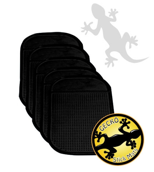 Gecko Stick Mat Stack Of 5 Black Keep Your Cell Phone On The Dash Reuse Over And Over