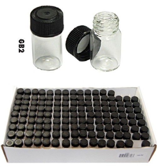 Mini Glass Bottle Display 144 Pc of 1.3/8""