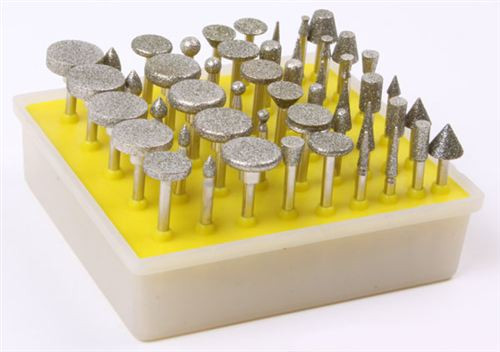 50PC Diamond Rotary Burr Set 80 Grit