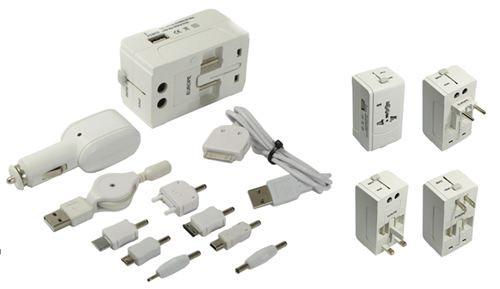 Universal Travel Adaptor w/ 4 International Connectors and USBs