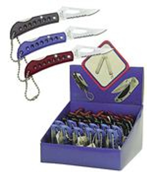 "36PC 2 1/2"" Folding Pocket Knife Display Great Promo Items"