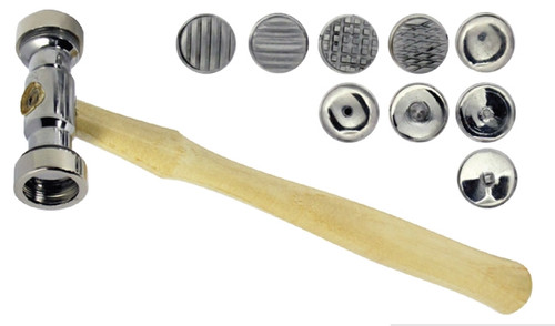 Texturing Hammer with 9 Interchangeable Heads