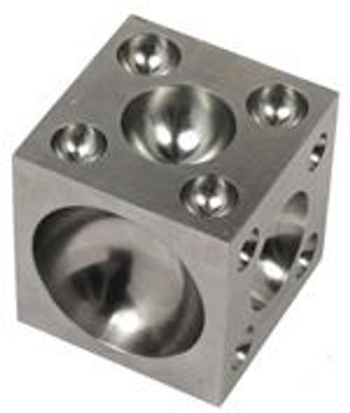 "3""X3""X3"" Dapping Block 25 Round Cavity"