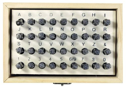 Premium 3mm 36 Pc CRV Material Number & Letter Punch Set