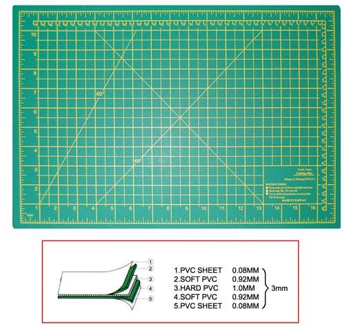 """Self Healing Cutting Mat 18""""X12""""X3mm"""