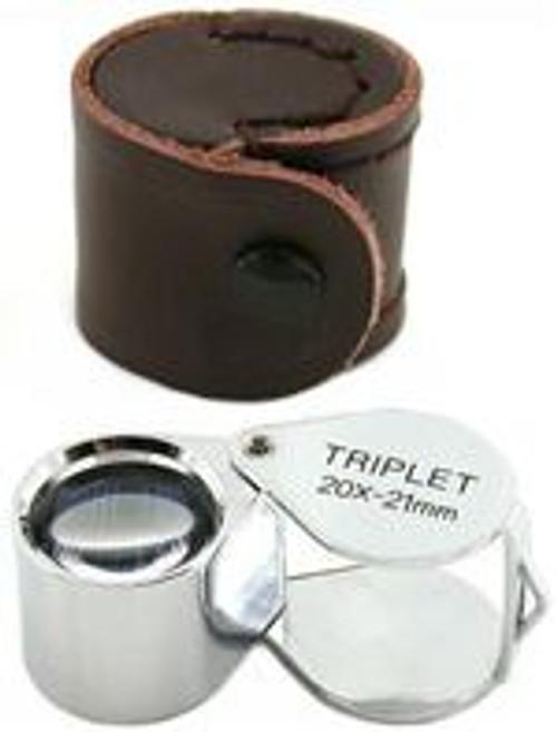 20X Triplet Jewelrs Loupe 21mm Lens
