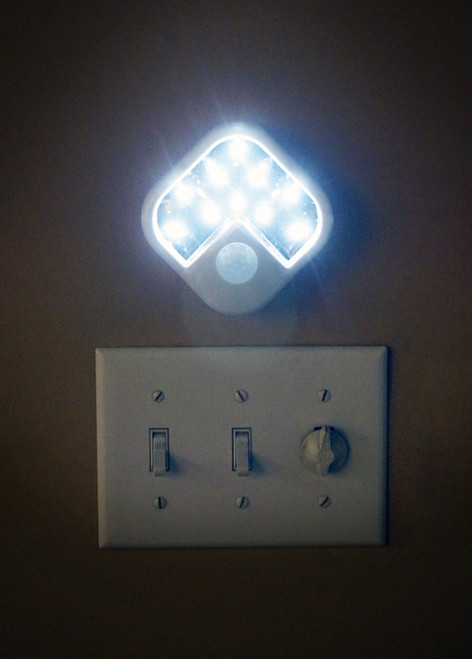 10 Super Bright LED Motion Sensor Light 3 Function Using 3AA Batteries