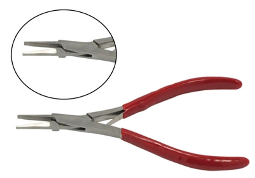 Flat Jaw Plier Stainless Steel Thin Jaw 5""