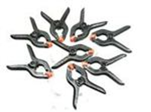 "Mini Plastic Spring Clamps 2"" 8PC"