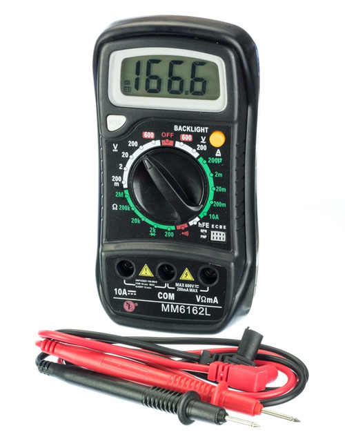 Digital Multimeter with Back Light, with Large LCD Display