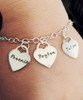 """Heart Lock Hand Stamped, .925 Sterling Silver, Charm Bracelet with 4mm links. Available in 7"""", 8"""", & 9"""". The bracelet is shown with a Polished Finish in 8"""" size. The price includes one charm. Use the drop down menu if you would like to add more charms. Use the drop down if you would like to add Genuine Swarovski Birthstones.   SIZE:  Choose 7"""", 8"""", or 9"""" Bracelet Length. 4mm width Solid Sterling Silver Charm Bracelet. Solid Sterling Silver Heart Lock Charms are a thick 17 gauge and .66""""x.75""""   *To find your Bracelet size, measure your wrist and add 1/2"""" to 1"""". For Anklets, 9"""" is average. -7"""" fits most small-medium wrists. -8"""" fits most large-Xlarge wrists. -9"""" fist most XXlarge wrists and average size Ankles. *Please measure to be sure; I do not take responsibility for sizing issues."""