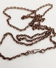 "3.4mm Solid Copper Aged Patterned Cable Chain with Solid Copper S Hook. Available in 16"", 18"", 20"", 24"", 28"", 32"", or any custom length."
