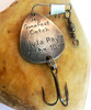 "Fishing Lure ""My Greatest Catch"" Hand Stamped with baby birth stats"