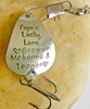 "Fishing Lure ""Papa's Lucky Lure ♥ names of children ♥"" Hand Stamped"