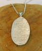 Large Oval Fingerprint Necklace Polished .999 Fine Silver