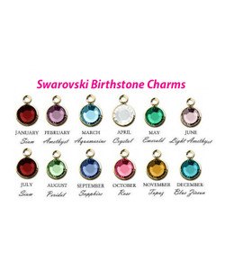 Add on 6mm Channel Drop Swarovski Crystal Birthstone 14K Gold Plated Charm Pendants. This listing is for one birthstone, your choice of month. If bought without a necklace, a 14K Gold-Filled jump ring will be included on the side.  January-Siam February-Amethyst March-Aquamarine April-Crystal May-Emerald June-Light Amethyst July-Siam August-Peridot September-Sapphire October-Rose November-Topaz December-Blue Zircon