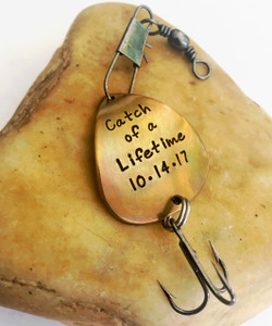 "Fishing Lure ""Catch of a Lifetime (Date)"""