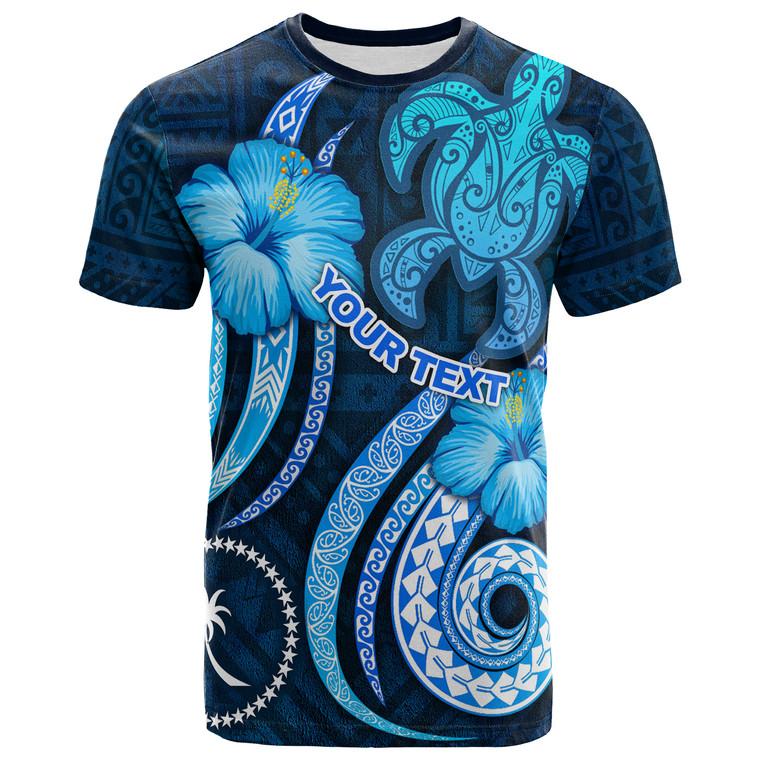 [Custom] Chuuk Personalised T-Shirt - Turtle and Tribal Tattoo Of Polynesian