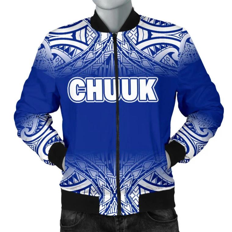 Chuuk Bomber Jacket - Fog Blue Style 1