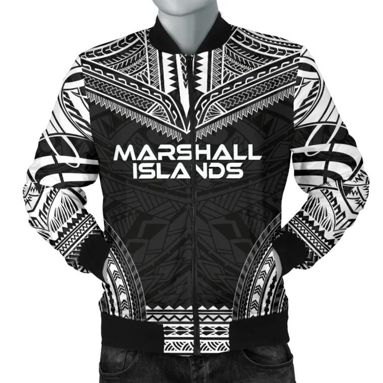 Marshall Islands Polynesian Chief Bomber Jacket - Black Version 1