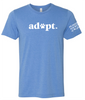 Heather Blue  - Unisex Adopt Tee - Animal Rescue - HSL Adopt Tee  Humane Society of the Lakes
