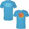Aqua Triblend Heart-n- Soul Community Cafe   Front Chest Logo Tee