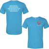 Aqua Triblend Heart-n- Soul Community Cafe | Left Chest Logo Tee