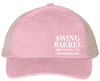 Coral Swing Barrel Brewing Company Ladies Ponytail Hat