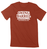 Swing Barrel Brewing Company Heather Clay Logo Tee