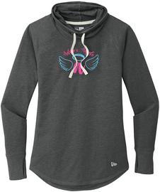 Addie's Angels Sueded Cowl Blue/Pink Logo