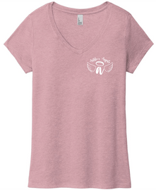 Addie's Angels V-neck Tee Heather Orchid