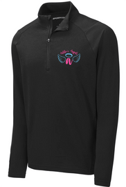 Addie's Angels Unisex 1/2 Zip Blue/Pink Logo