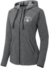 Addie's Angels Full Zip White Logo