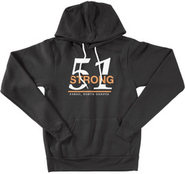 51 Strong Pullover Hoodie   White/Orange