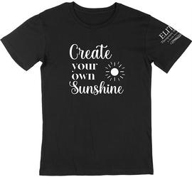 """Elite Therapeutic Massage Rebecca Quotes """"Create Your Own Sunshine"""" Black"""