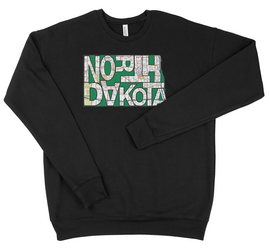 Black Taeamade ND State Drop Shoulder Sweatshirt