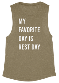 Rest Day Massage Flowy Muscle Tank