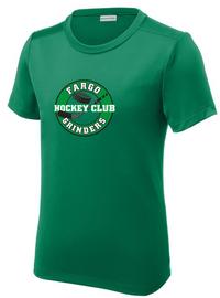 Fargo Grinders Youth Short Sleeve Tech Tee - Green
