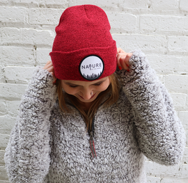 NotN Beanie Patch Hat Heather Red