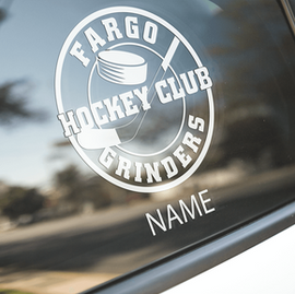 Fargo Grinders Car Decal