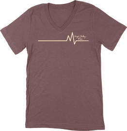 Heartbeat V-Neck Tee | Angel Baby Mile