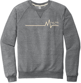 Heartbeat Terry Raglan Crewneck | Angel Baby Mile