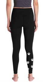 HSL High Waist Paw Print Leggings