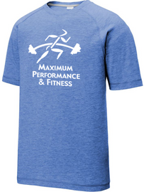 Maximum Performance and Fitness Raglan Tee Blue