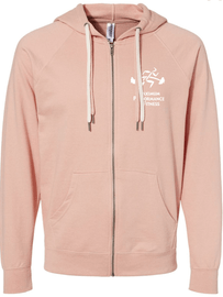 Rose Maximum Performance and Fitness Terry Zip Hoodie